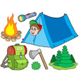 camping collection vector image