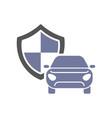 car guard shield sign collision insurance logo vector image vector image
