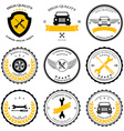 Car service Auto parts tools Icons set vector image vector image