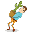 carrying cactus vector image vector image
