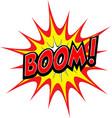 cartoon comic boom explosion blast vector image vector image