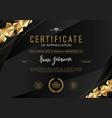 certificate template with luxury golden elements vector image vector image
