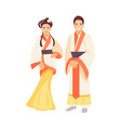 chinese costume vector image vector image