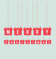 christmas card with gift box vector image vector image