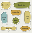 colorful speech bubbles vector image vector image