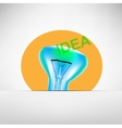 concept bulb drawing vector image vector image