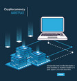 cryptocurrency system and marketplace vector image