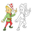 cute elf cartoon character vector image vector image