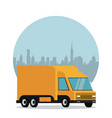 delivery and logistics vector image vector image
