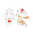 design box for pizza slice vector image