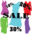 dress on sale color vector image vector image