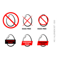 Egg Free Symbols on white background vector image