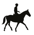 equestrian sport silhouettes vector image vector image