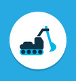 excavator icon colored symbol premium quality vector image