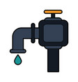 faucet and water drop icon image vector image