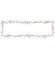 festive glowing garland banner vector image vector image