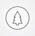 fir-tree outline symbol dark on white background vector image vector image