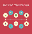 flat icons muslim woman decorative malay and vector image vector image