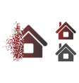 fractured pixel halftone home icon vector image vector image
