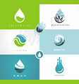 fresh spring water logo vector image vector image