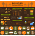 Fuel and energy industry infographic set elements vector image