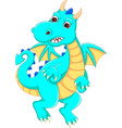 funny dragon cartoon posing with laughing vector image