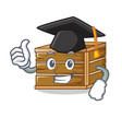 graduation crate character cartoon style vector image vector image