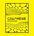 graphene a molecular network hexagons vector image