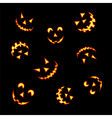 Halloween pumpkin faces vector image
