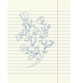 Hand drawing sketch flower vector image vector image