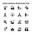 human resource development icon set graphic design vector image