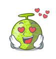 in love cartoon melon sweet fruit in the market vector image