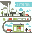 Infographics from the factory to the store vector image vector image