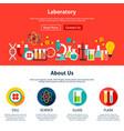 laboratory website design vector image vector image