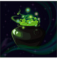 magic witch pot vector image vector image
