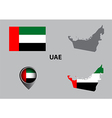 Map of United Arab Emirates and symbol vector image vector image