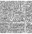 music doodle vector image vector image