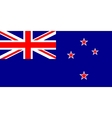 New Zealand flag in correct proportions and colors vector image vector image