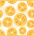 orange sliced pattern vector image vector image