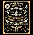 ouija board with monograms occultism set vector image vector image