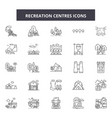 recreation centres line icons signs set vector image vector image