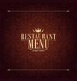 restaurant menu design vintage card vector image vector image