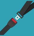 safety belt vector image
