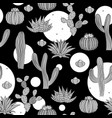 seamless pattern with cactus wild cactus forest vector image vector image
