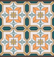 seamless pattern with portuguese tiles azulejo vector image vector image