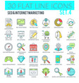 seo and internet marketing icons vector image vector image