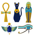 set of egyptian signs and symbols cultures of vector image