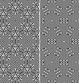set two seamless patterns vector image vector image