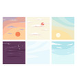 sky landscape different times day and night set vector image