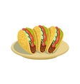 Tacos Traditional Mexican Cuisine Dish Food Item vector image vector image